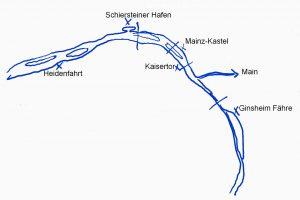 SUP Spots auf dem Rhein bei Mainz/Wiesbaden/Frankfurt